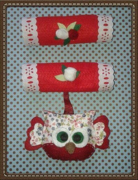 Pegador de geladeira, em feltro no tema corujinha. Pode ser confeccionado na cor e tema desejado. R$ 30,00