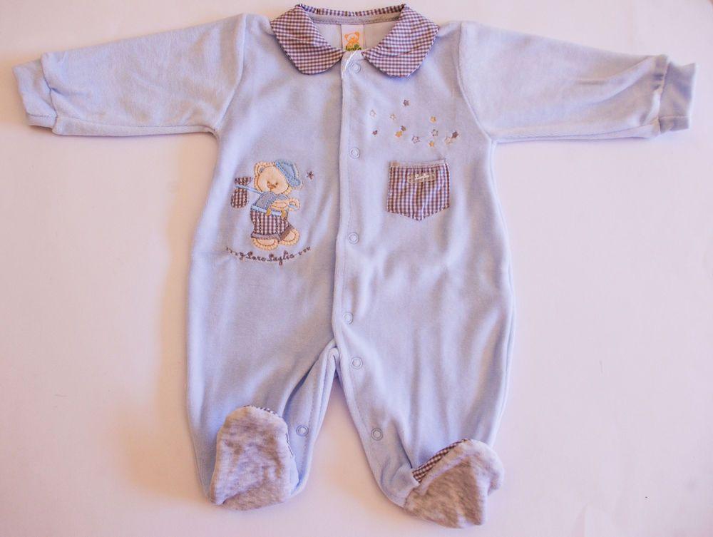 314fd04f41 Tutina ciniglia neonato baby con colletto e taschino taglia 3/6 mesi ...