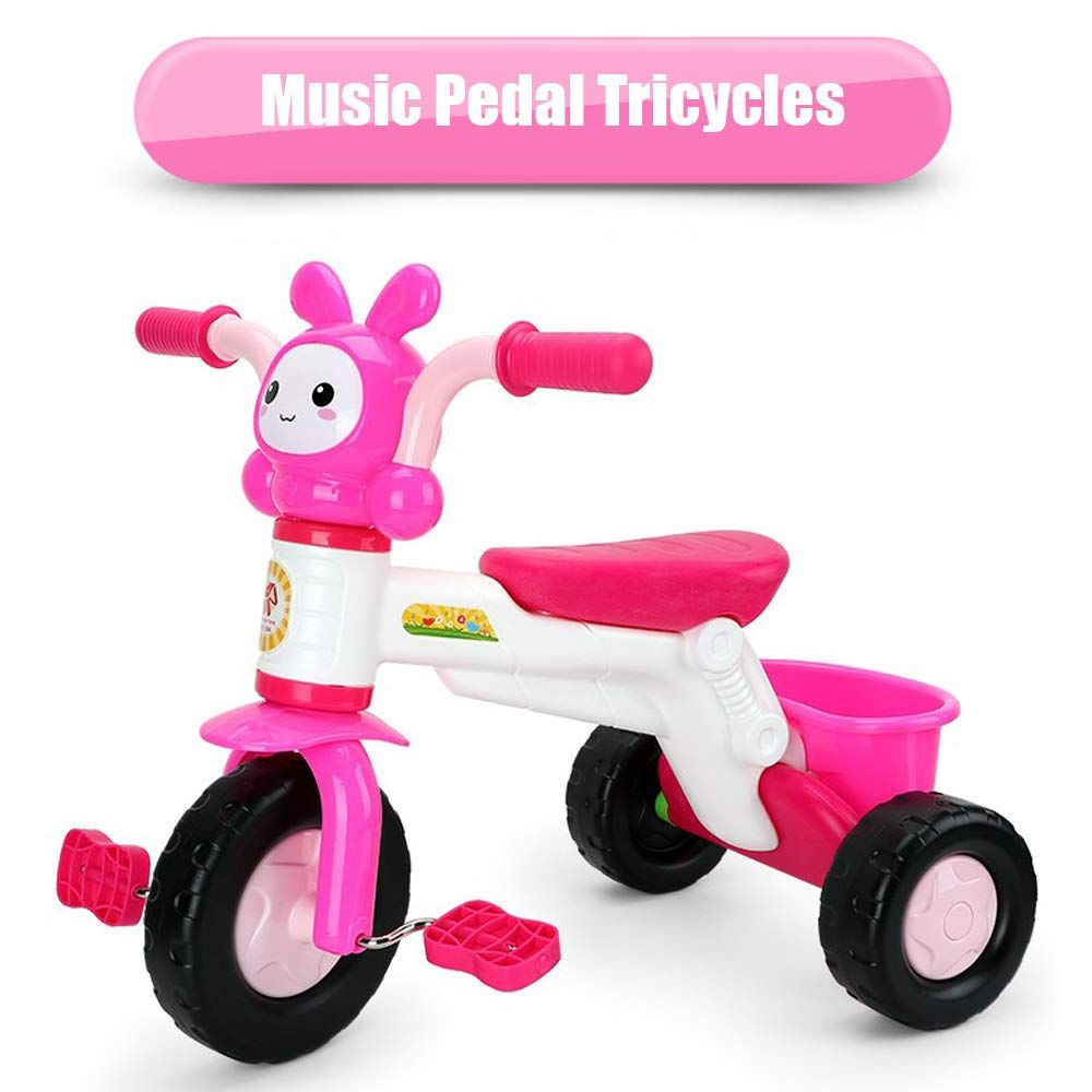 Qiaoniuniu Kids Pedal Tricycles Music Rider Trikes Bike With A Big Rear Basket For Children Age 2 8 Years Kids Great Gift In 2020 Tricycle Kids Trike Toddler Tricycle
