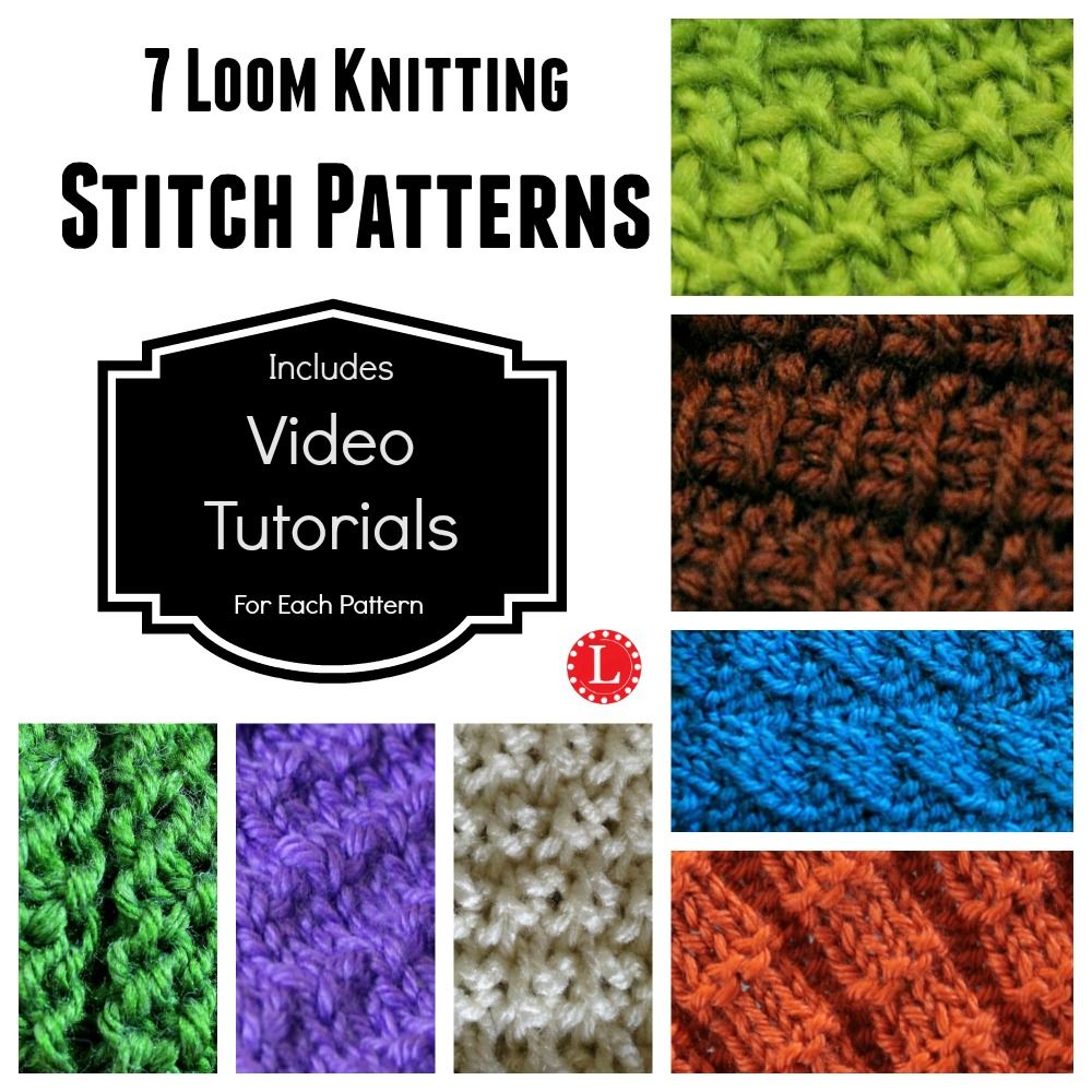 Loom Knit Stitches | crafts | Pinterest | Stitch, Loom knitting and ...