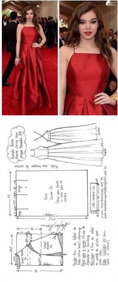 Moldes de vestidos de fiesta pinterest