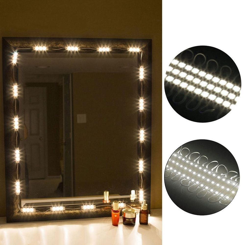 Diy white led lighted vanity mirror lights strip kit for makeup mirror light kit linkstyle 10ft vanity make up light diy led light kits dressing aloadofball