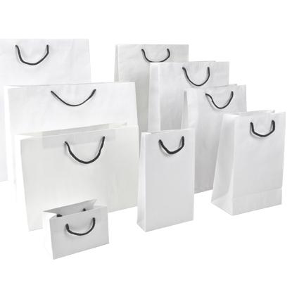 White Kraft Paper Bags With Black Rope Png 415 415 Paper Bag Kraft Paper Kraft