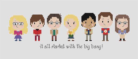 Big Bang Theory Cross Stitch Patter Nerdy by goodmorningmaui