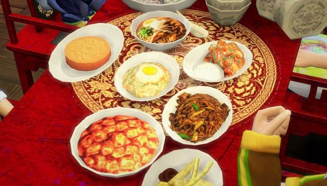Chinese Food Overrides At Budgie2budgie Sims 4 Updates Food Sims 4 Kitchen Sims