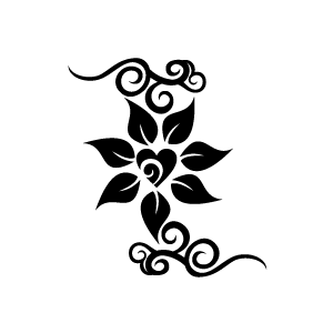 flower clipart black alphabet s with white background download