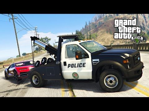 GTA 5 Mods - PLAY AS A COP MOD!! GTA 5 Police Tow Truck Towing Super