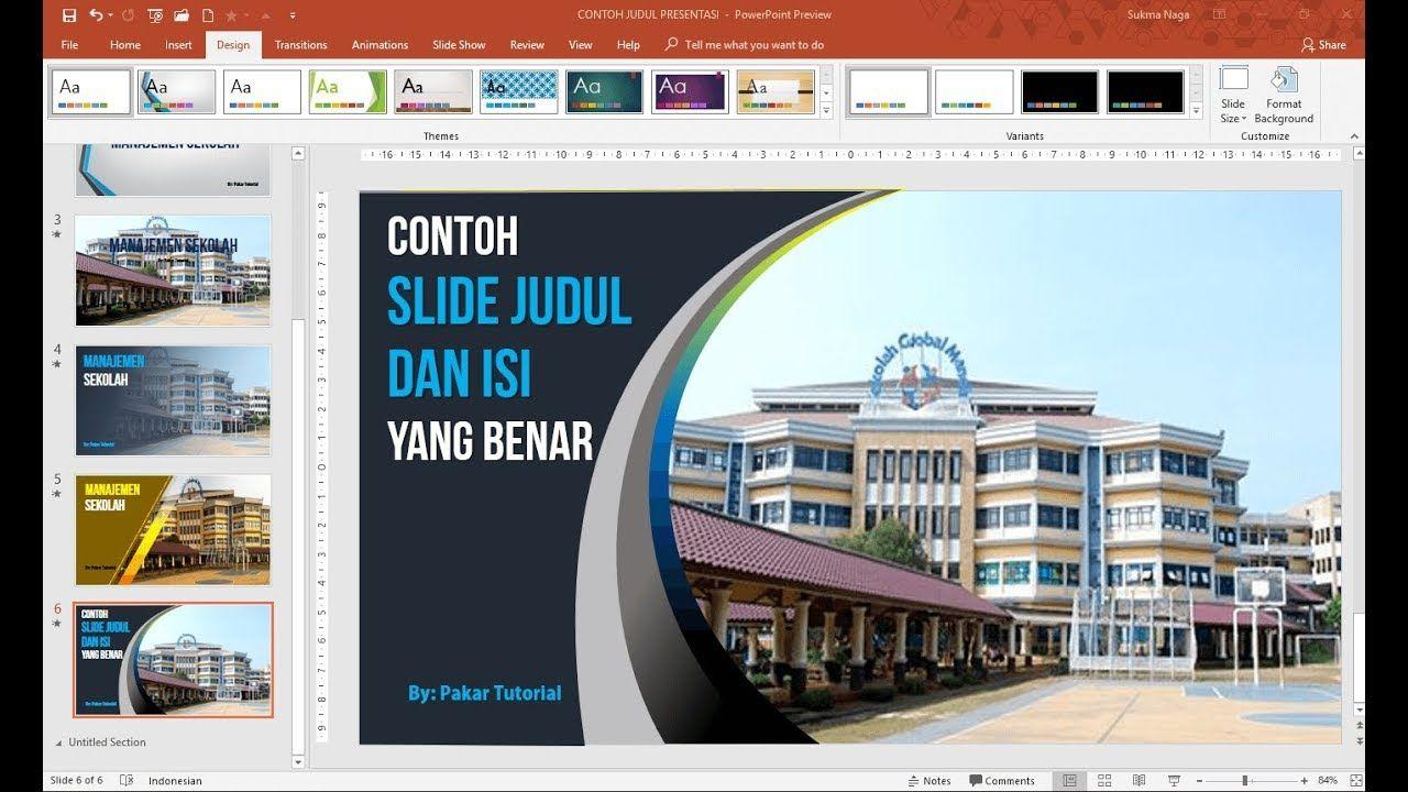 Contoh Slide Judul Dan Isi Presentasi Powerpoint Yang Baik Presentasi