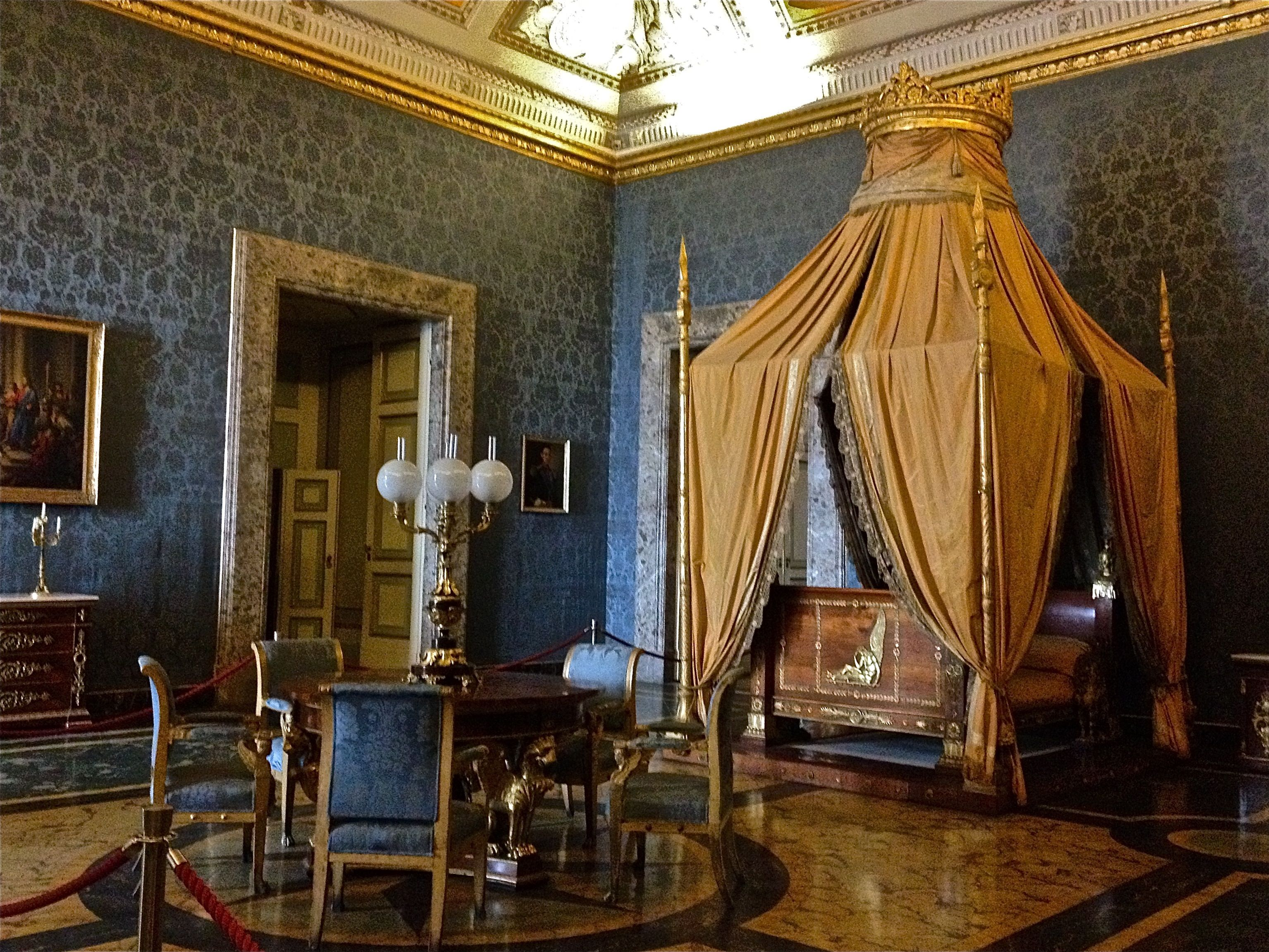 The royal palace in caserta italy still trying to figure out what i can do to get a bed like - Interior designer caserta ...