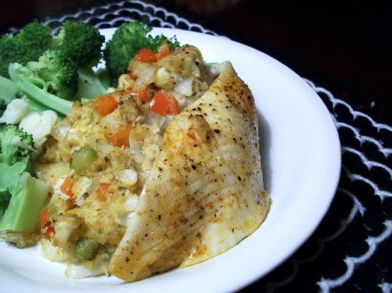Flounder stuffed with shrimp and crabmeat recipe for Stuffed fish with crab meat