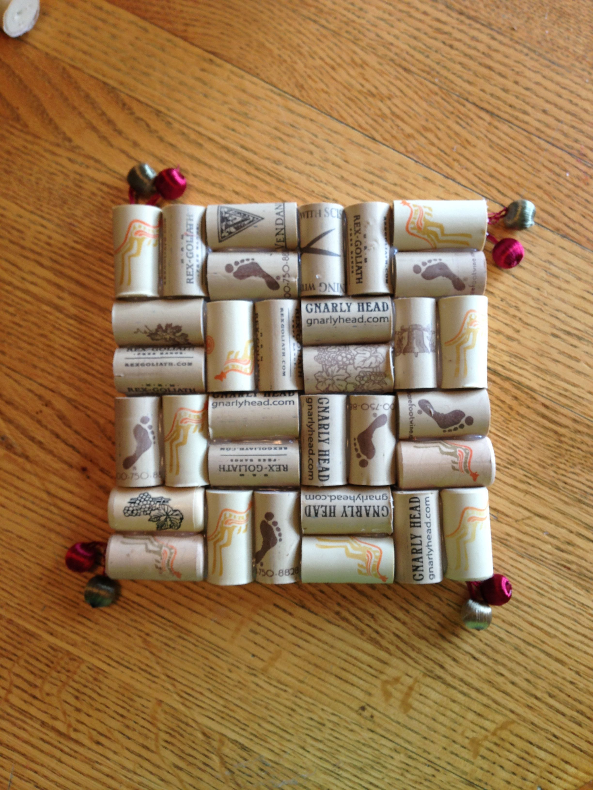 my newest cork creation - hot plate