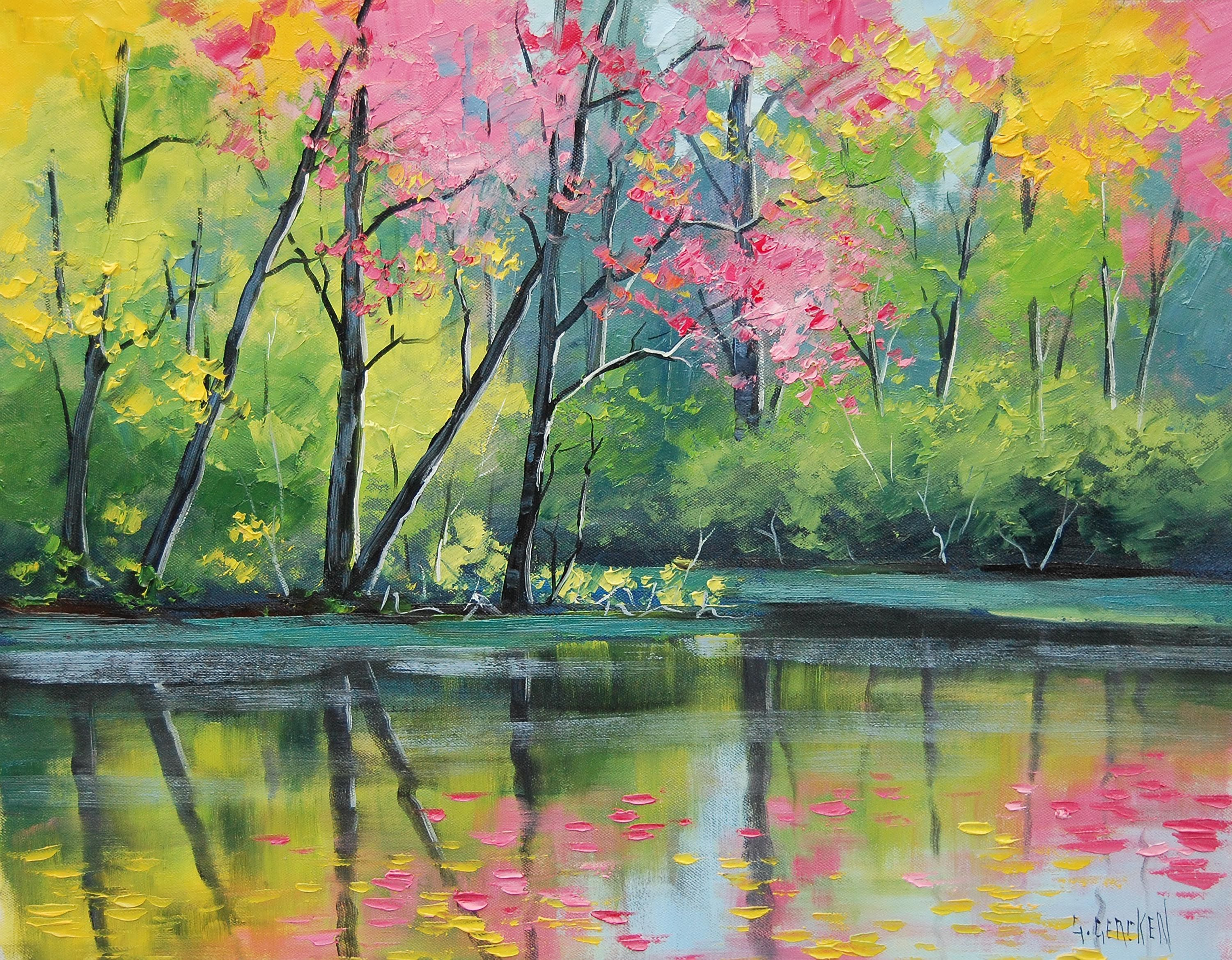 Colorful Tree Painting Wallpaper   It is very beautiful wallpaper of ...