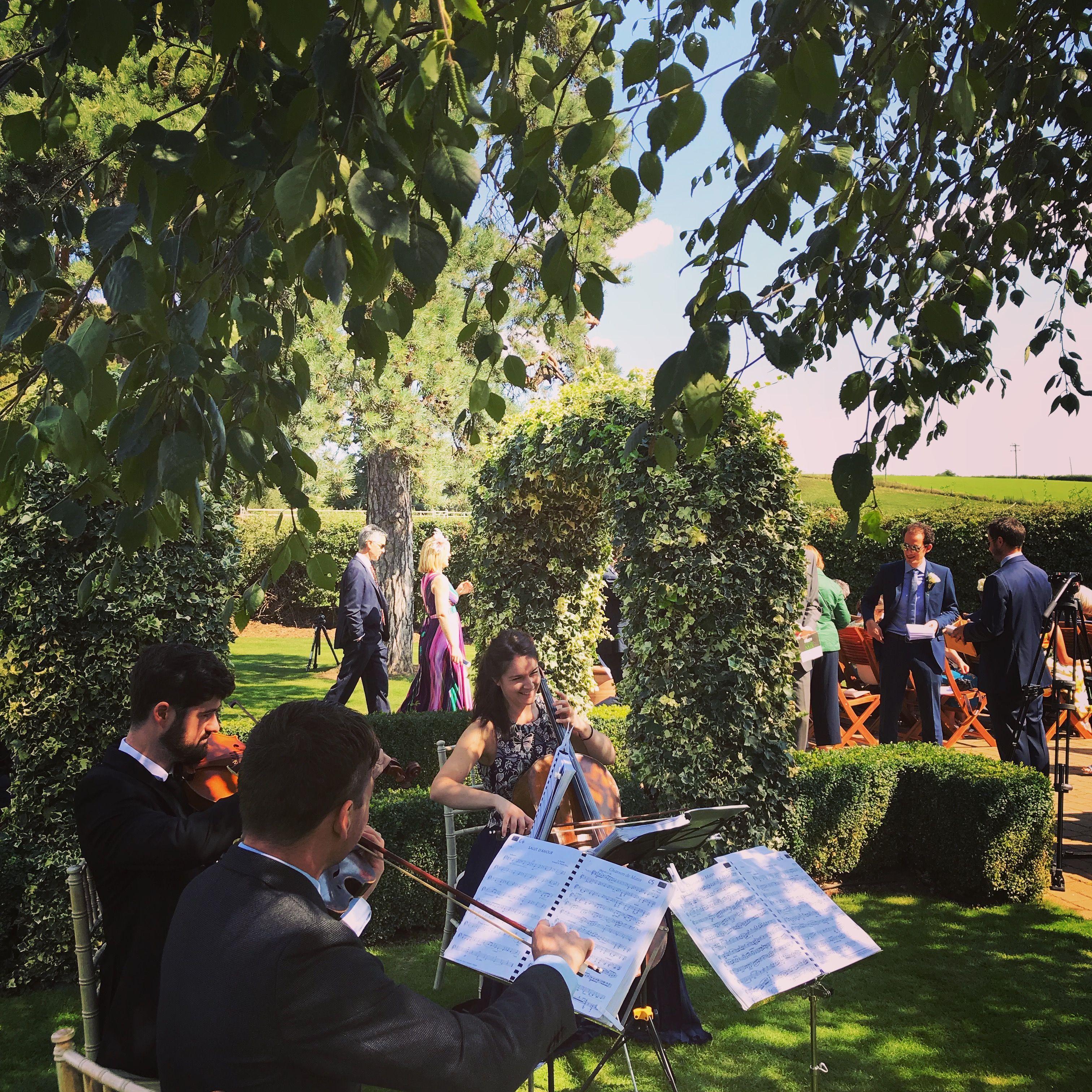 Outdoor Wedding Ceremony No Music: Playing At A Beautiful Outdoor Ceremony In Tewin Bury Farm