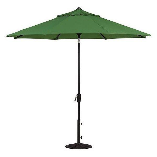 Home decorators collection 11 ft auto tilt patio umbrella in emerald sunbrella with bronze frame