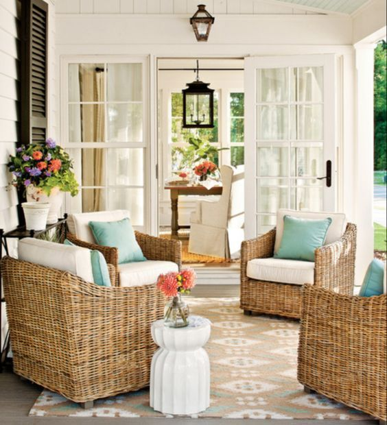10 Favorite Covered Porches Sunroom Decorating House With Porch Home Decor
