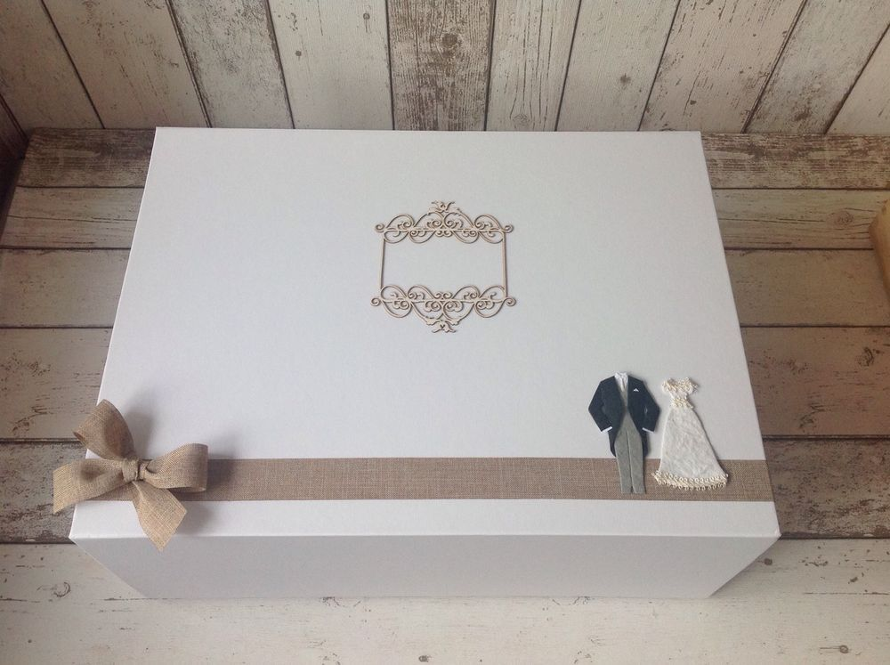 Extra Large Luxury Wedding Keepsake Box Personalised Ebay