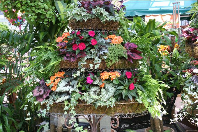 Container Garden Design tropical container garden design Tiered Gardens Designs Barlows Flower Farm Serving Ocean And Monmouth County Nj Container