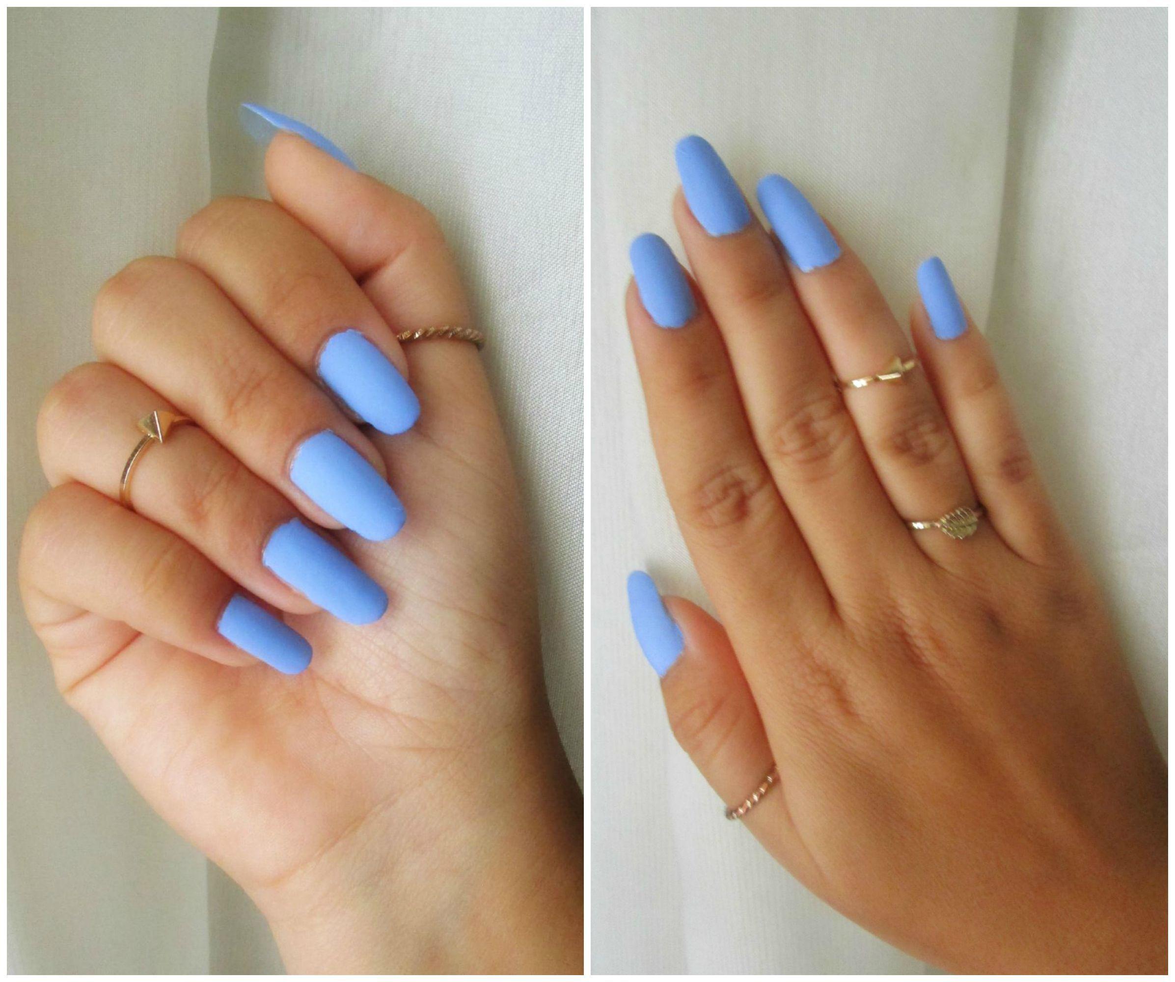 Matte Light Blue Nail Design <3 Protect & Enjoy Ur Natural Nails ...