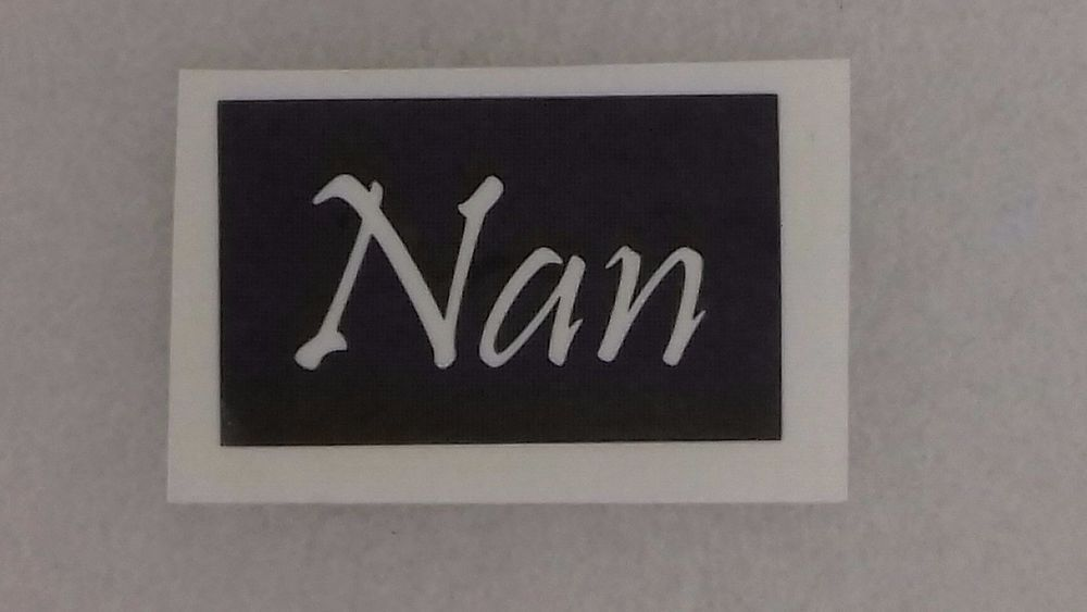 Details about 10 x nan word stencils for etching on to