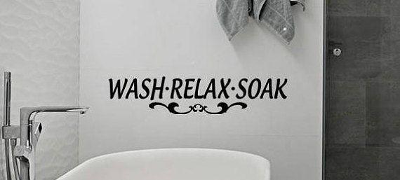 wash relax soak bathroom vinyl wall decals spa wall art wall