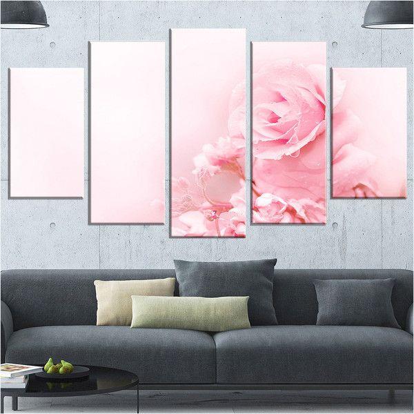 Design Art Beautiful Rose In Magic Light PortraitCanvas Art Print ...