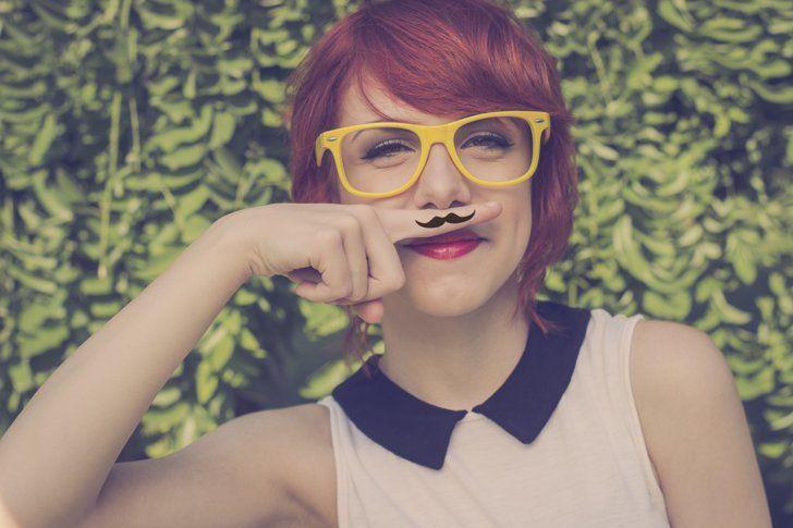 Upper lip hipster fashion upper lip style