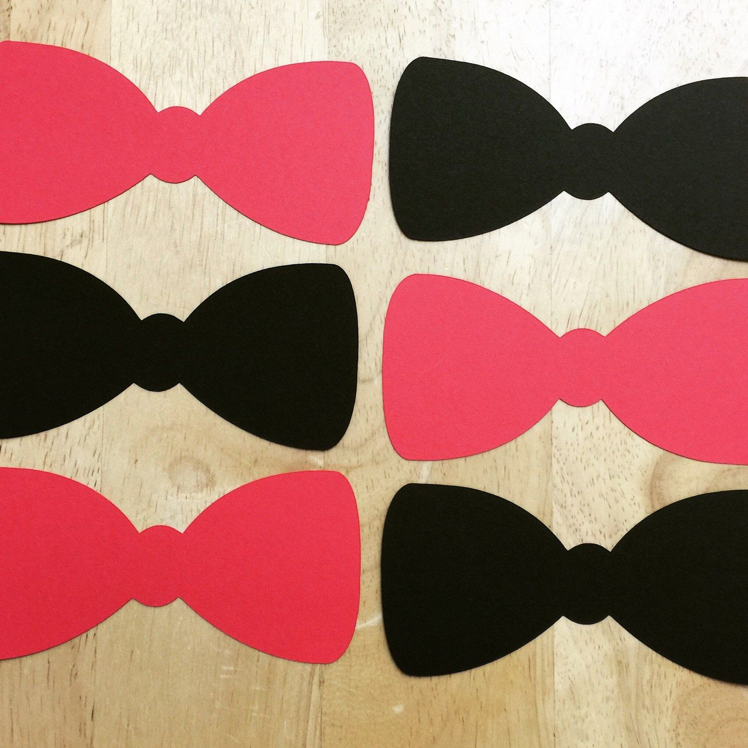 Order packaged and ready to be shipped. #cutouts #bowtie #customorder #etsy #diecut #partydecorations #babyshower #photoprop #invitation #centerpiece