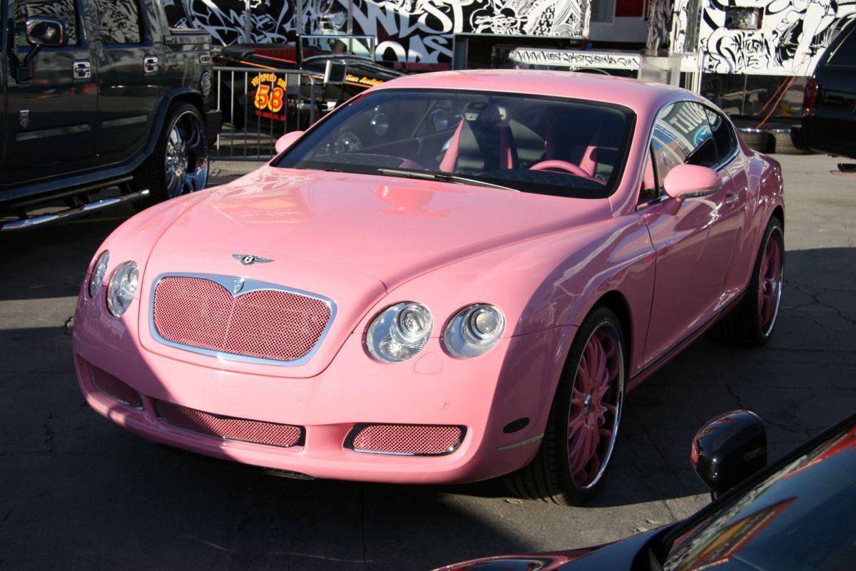 Pink Bentley Continental GT