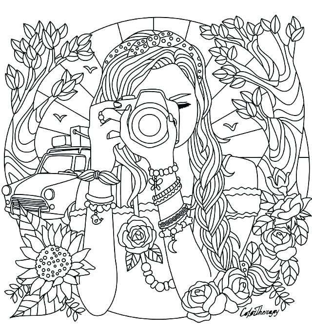pinjenni on creative ♡  detailed coloring pages cute