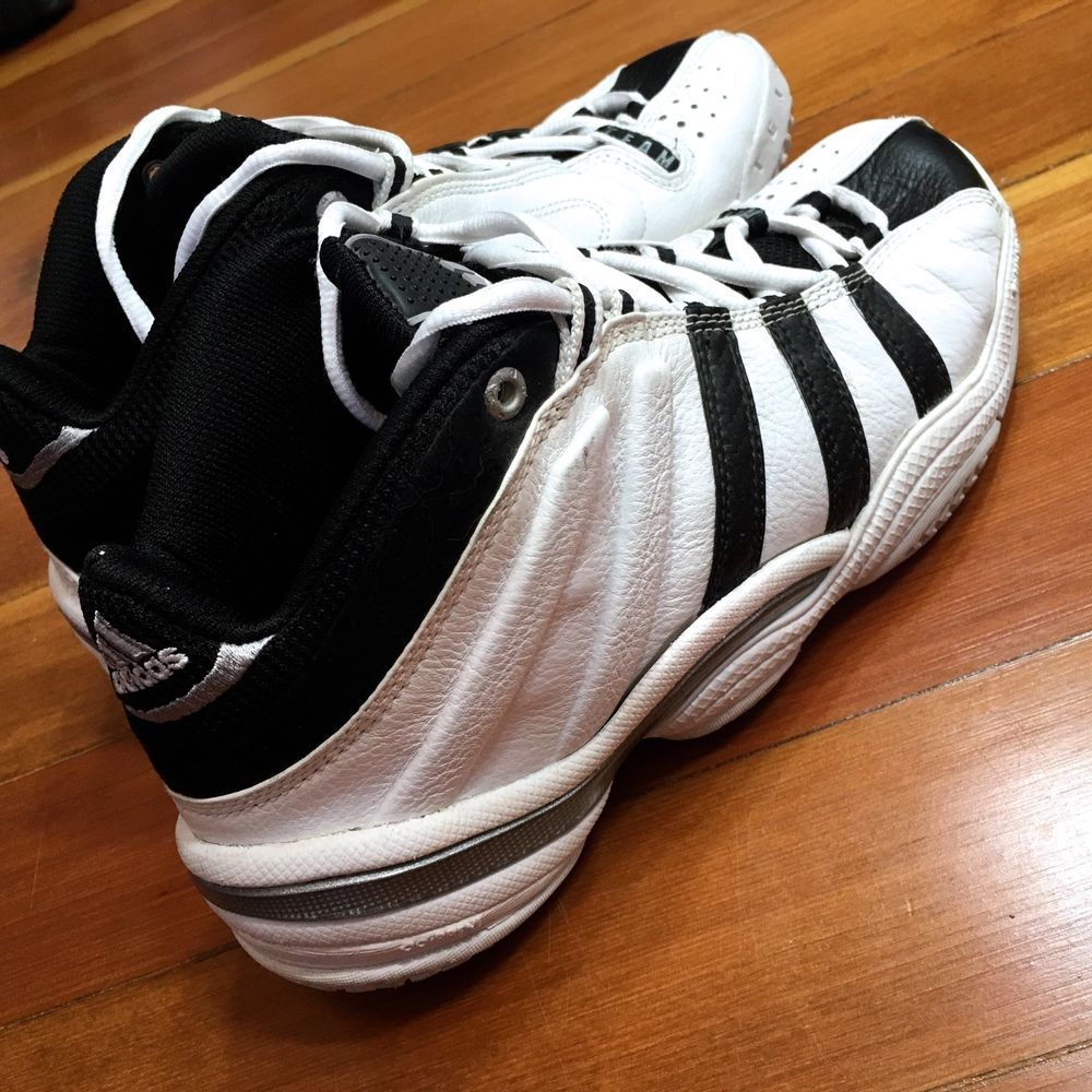 9d7cb1a9a905 VTG  Basketball ADIDAS adiPRENE Team WHITE BLACK SILVER Shoes 2000 Nice!  Mens 8.5  adidas  BasketballShoes  Vintage  VintageAdidas  ClassicAdidas   Retro ...