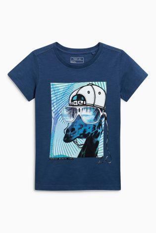Blue Giraffe T-Shirt (3-16yrs)