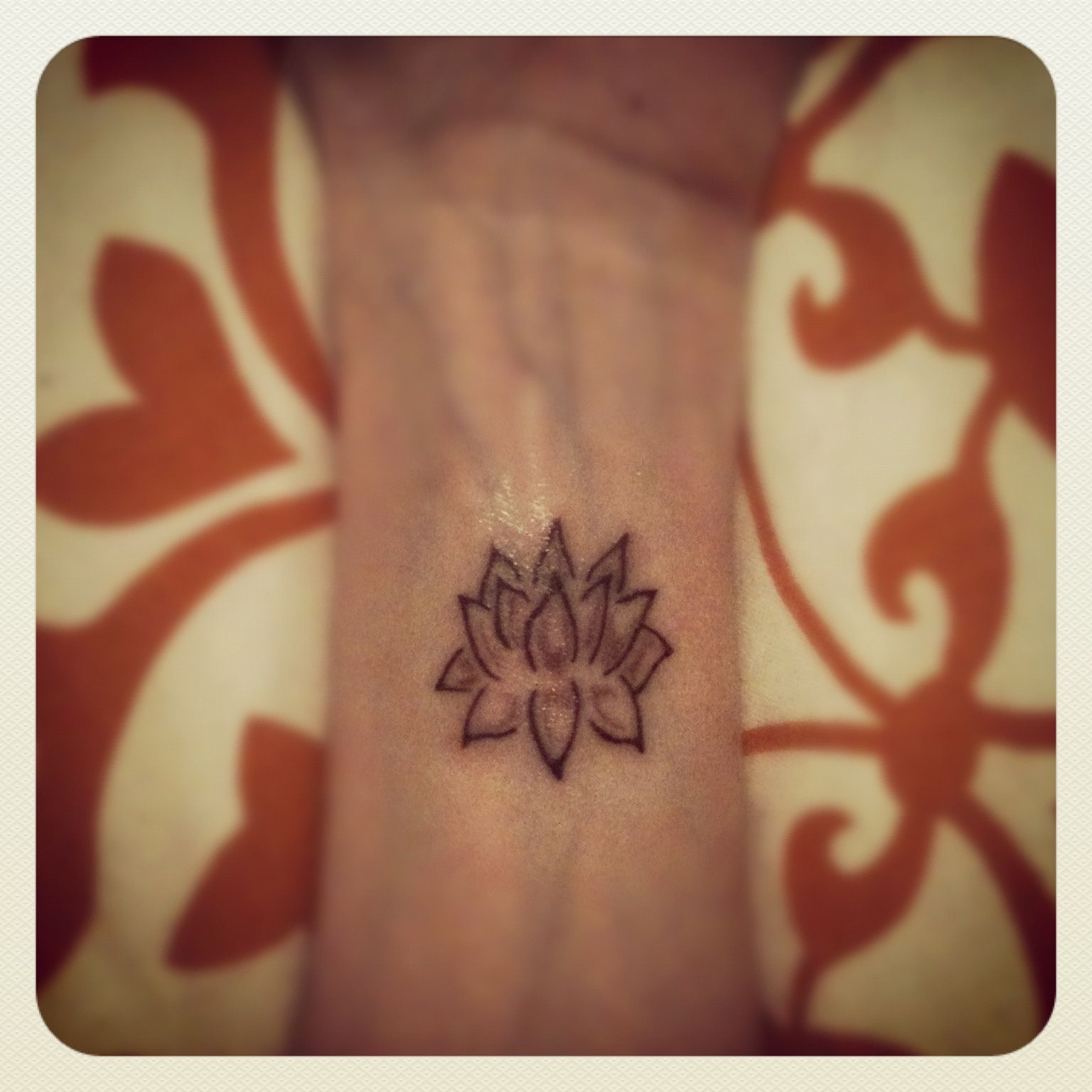 Small Lotus Flower Tattoo On My Left Wrist Inked Pinterest