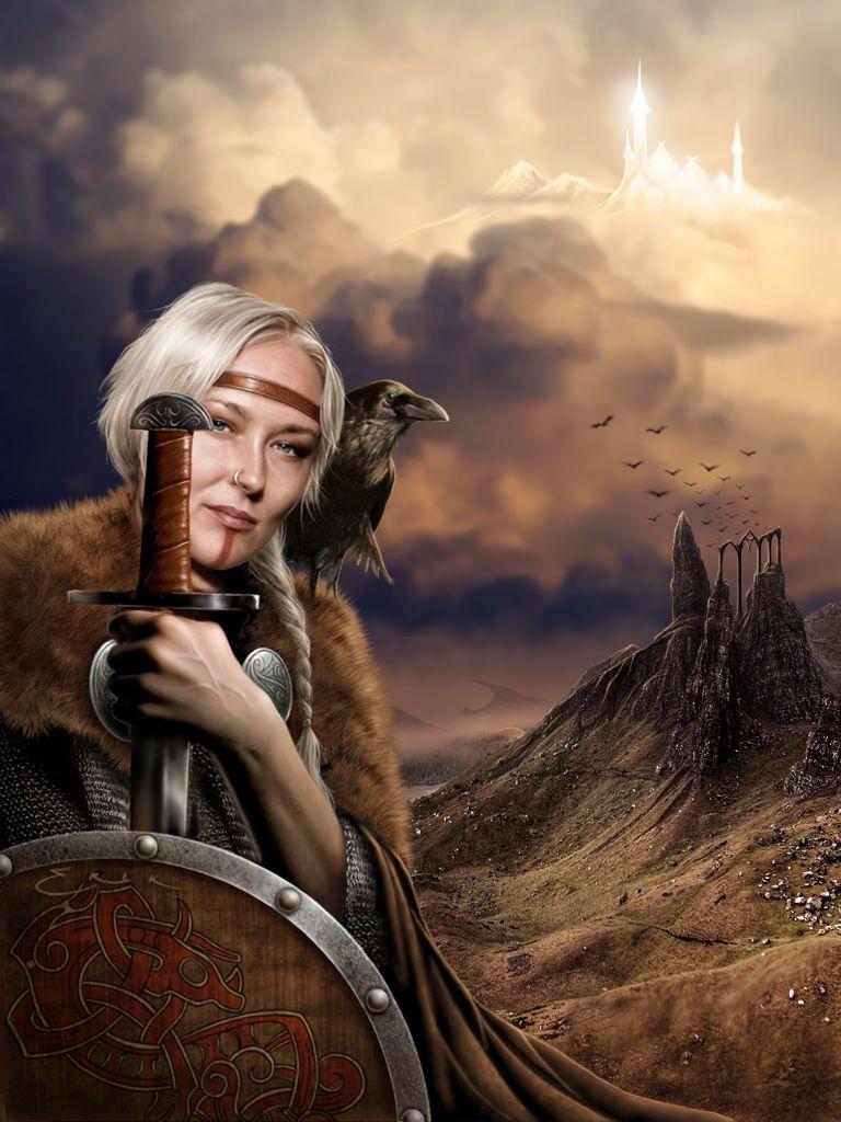 Викинг женщина картинка