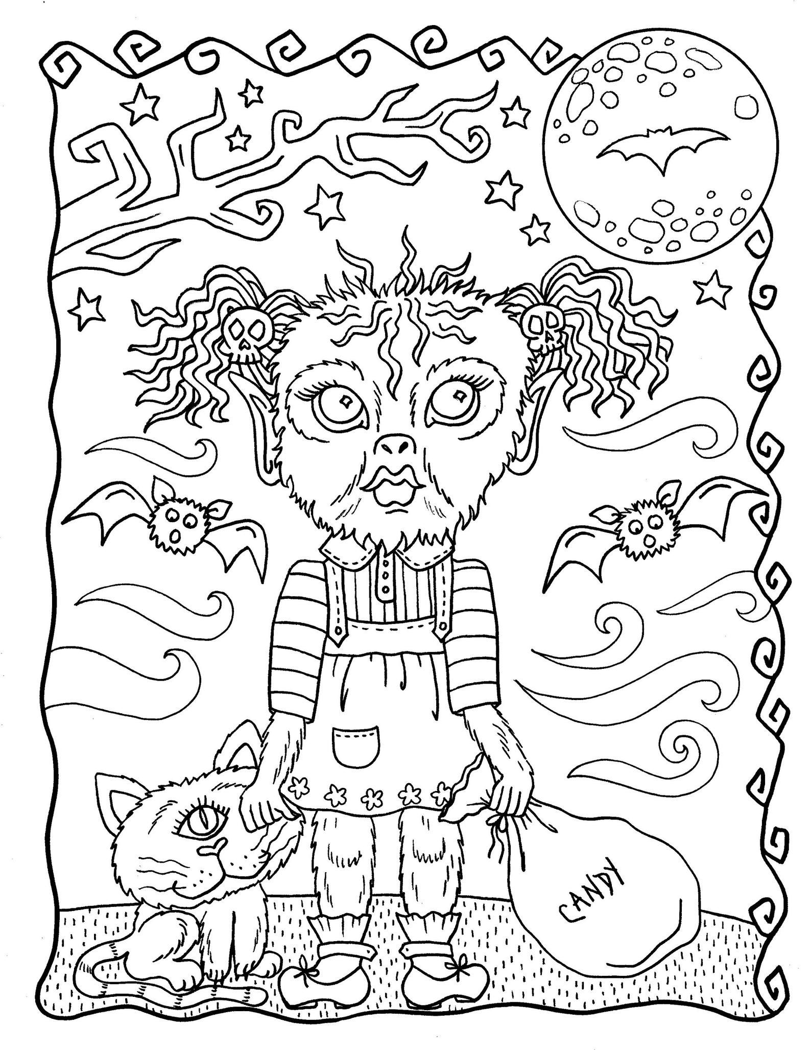 Halloween Darlings Digital Book Fun Little Trick Or Treaters Etsy Halloween Coloring Pages Pokemon Coloring Pages Pop Art Coloring Pages