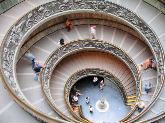 Staircase In The Vatican In Rome Vatican Museums Staircase
