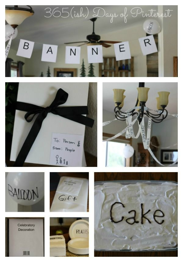 Generic Birthday Party 365ish Days of Pinterest Cheap and easy
