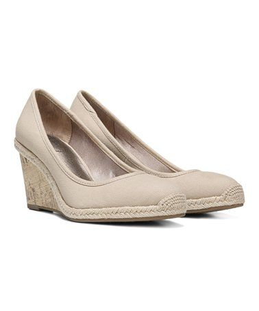 de6448592824 Love this Canvas Natural Listed Wedge by LifeStride on  zulily!  zulilyfinds