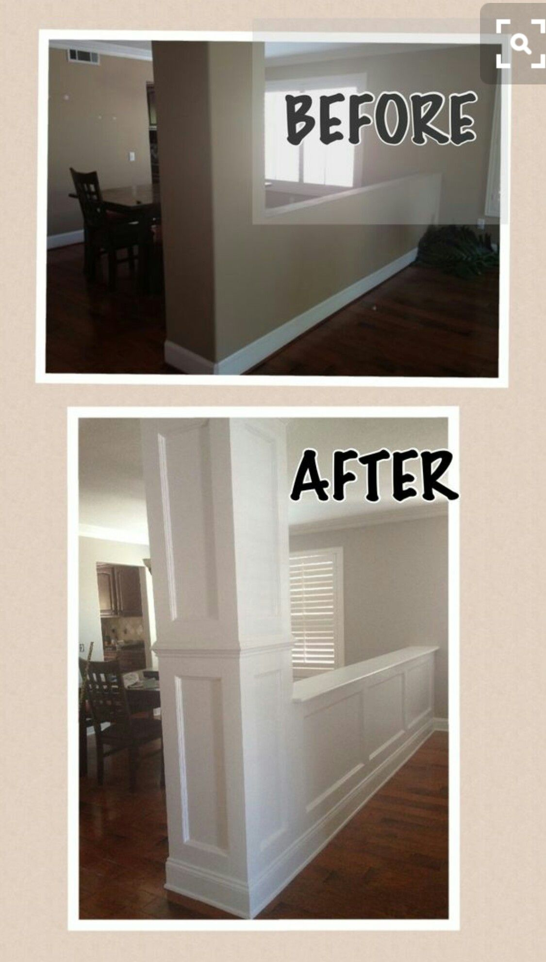 Hallway trim ideas  Adding mounding This looks so much better  DIYHome  Pinterest