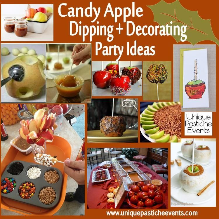 Candy Apple Dipping + Decorating Party Ideas Autumn * Fall - halloween party centerpieces ideas