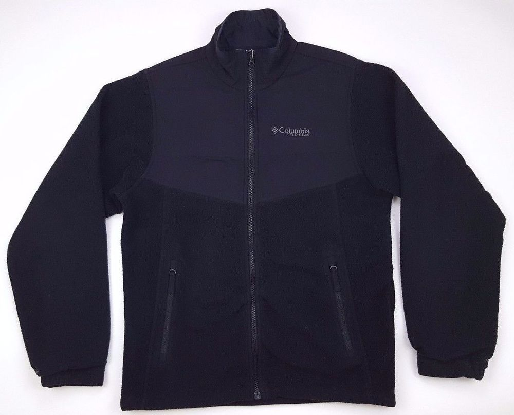 Columbia small fleece jacket mens black full zip interchange size sz