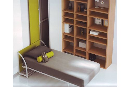 Cama abatible con sistema lateral montada kids fun - Sistema cama abatible ...