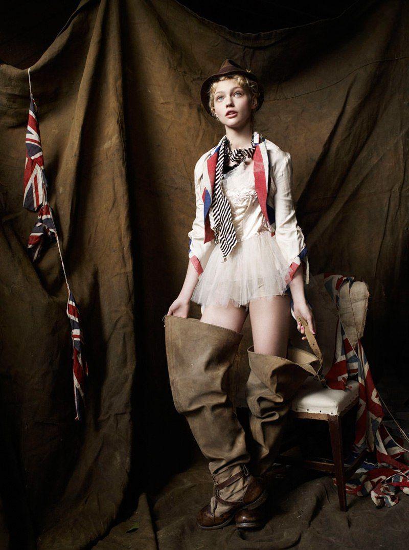 STYLE REWIND: Sasha Pivovarova for Vogue UK, December 2007