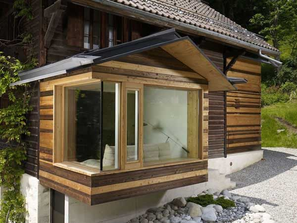 Inspiring Home Additions Old House Renovation And Interior Redesign By Lacroix Chessex Swiss Chalet Home Additions House Redesign