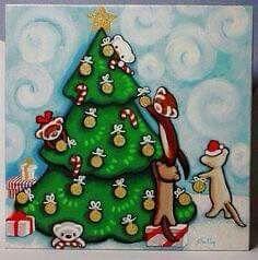 Christmas Ferr Art By Shelly Mundel