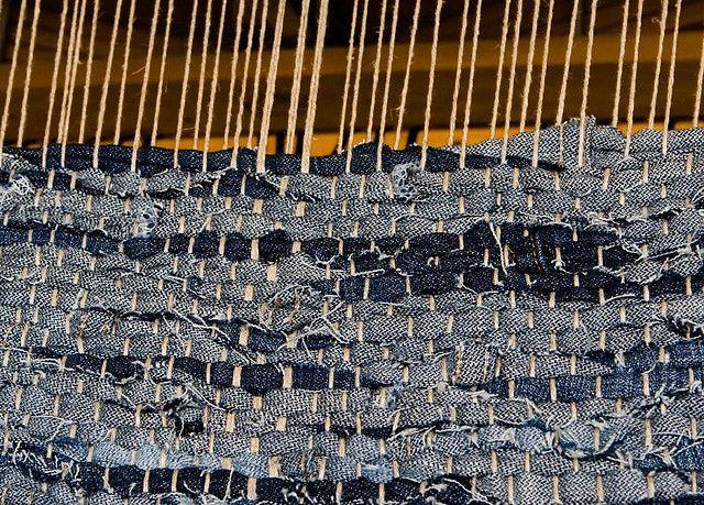 Denim Weaving Weaving Loom Weaving Woven Rug