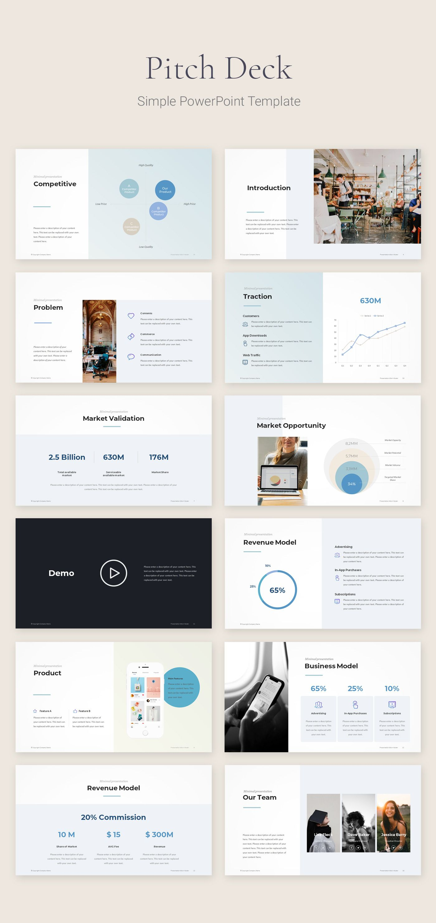 pitch deck startup template