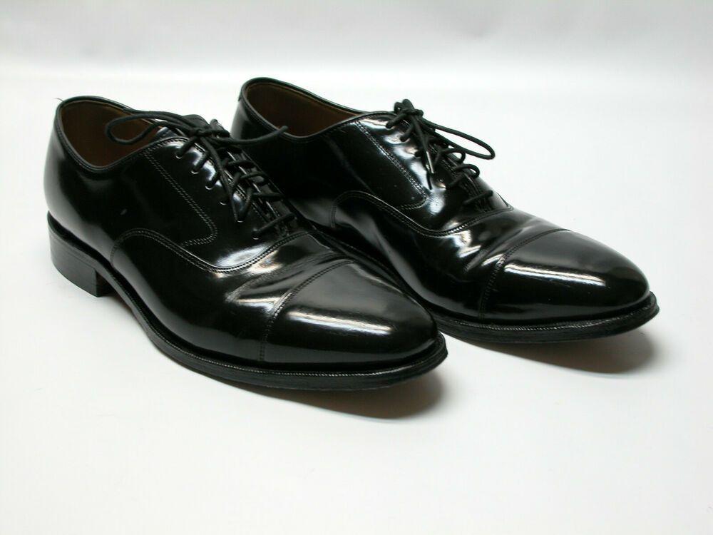 a30263010 Crown Imperial Men s Sz 10 D Brown Leather Brogue Wingtip Oxfords Vintage