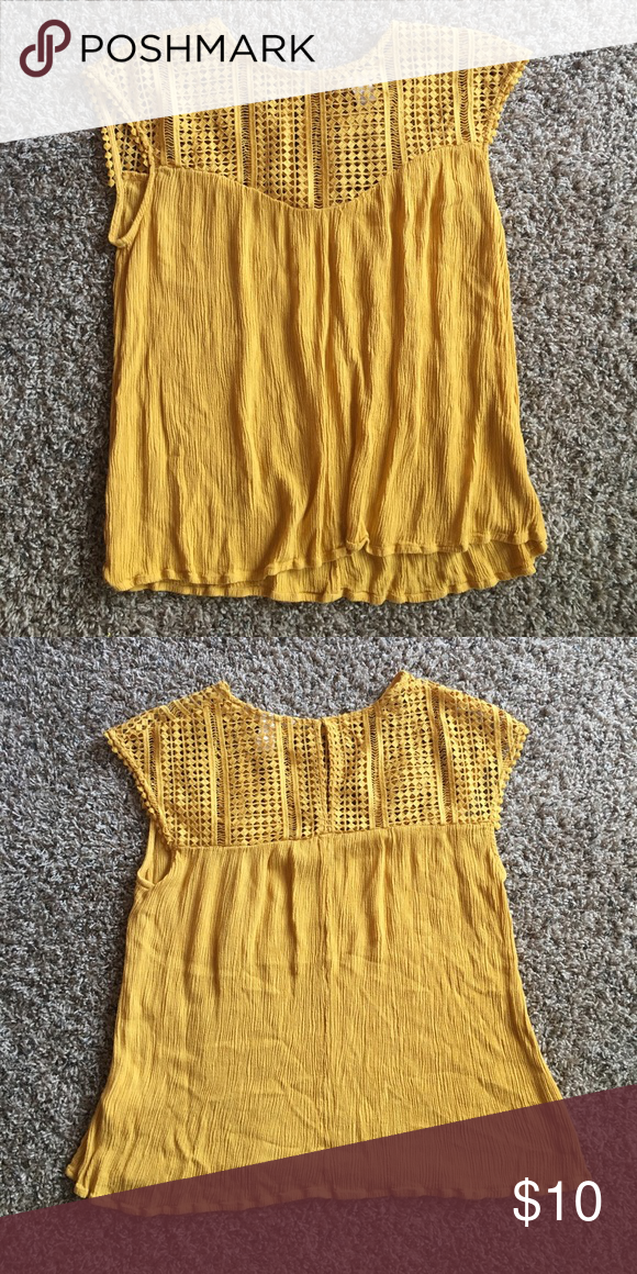 Yellow Blouse Shirt This Yellow Blouse has be Worn once. I am willing to bargain. This piece is in great shape. h & m Tops Tees - Short Sleeve