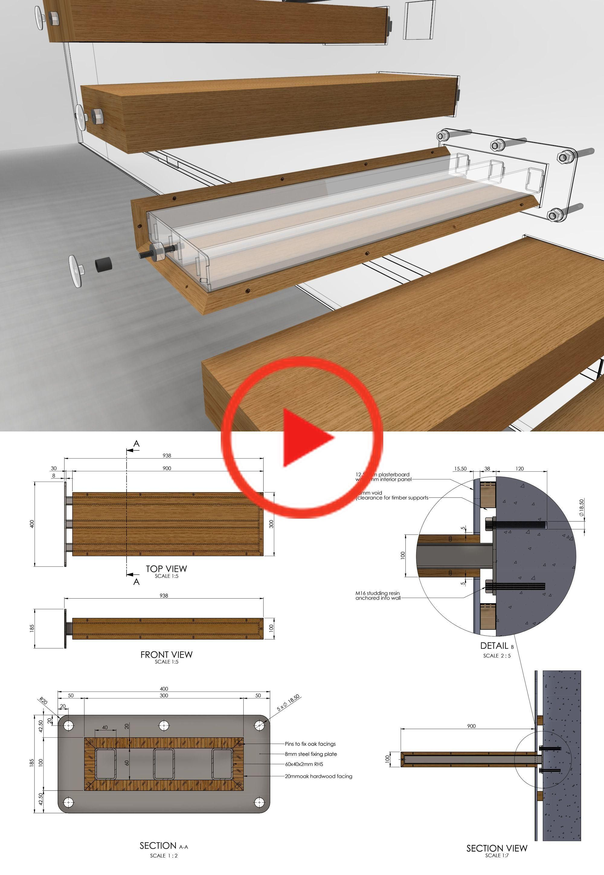To learn how to design a cantilevered staircase, visit homedesigntutorials.com #design