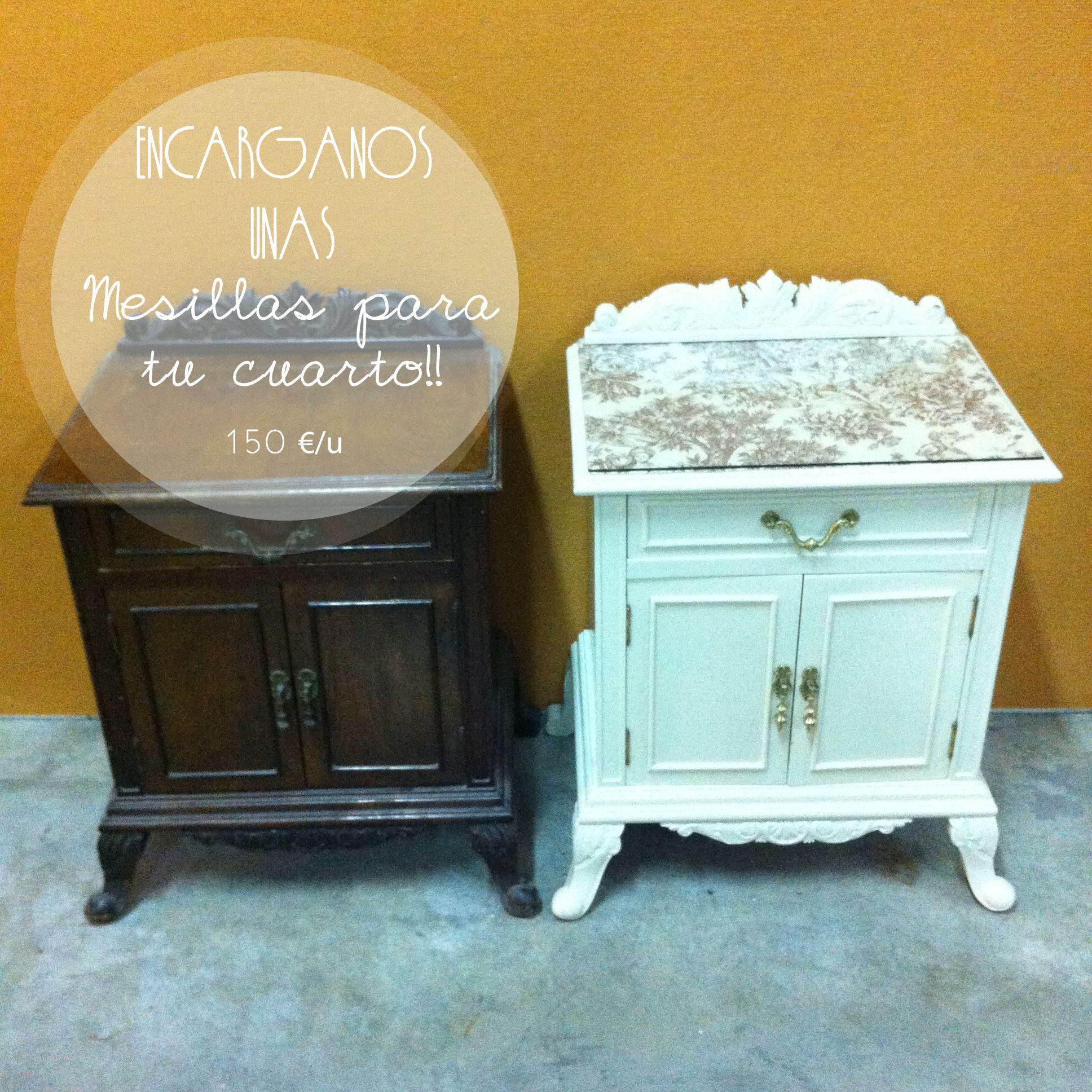 Mesitas de noche vintage restaurar muebles pinterest - Mesitas de noches ...